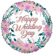"ECO Happy Wedding Day 18"" Foil Balloon"