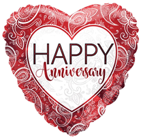 "Ruby Happy Anniversary 18"" Foil Balloon"