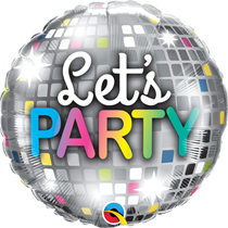 """Let's Party Disco Ball 18"""" Foil Balloon"""