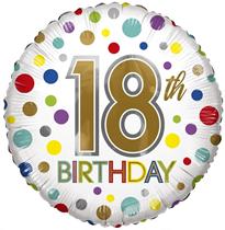 "ECO Age 18"" Dots Foil Balloon"