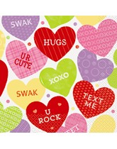 Candy Valentine Luncheon Napkins 16pk