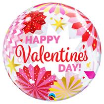"""Valentine Paper Fans 22"""" Bubble Balloon"""