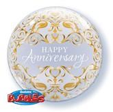"""Happy Anniversary Bubble Balloon 22"""""""