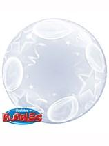 "Balloons and Stars Deco Bubble Balloon 24"""