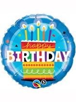 "Happy Birthday Cake 18"" Foil Balloon"