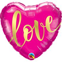 "Valentine 18"" Love Gold Foil Balloon"