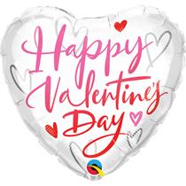"Valentine's Day Casual Script 18"" Heart Foil Balloon"