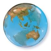 """Planet Earth World 22"""" Bubble Balloon"""