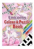 Unicorn Colour & Puzzle Book 24pk