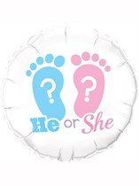 """He or She Baby Shower 18"""" Foil Balloon"""