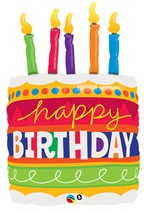"Happy Birthday Cake 35"" Supershape Foil Balloon"