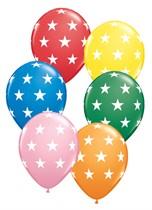 "Assorted Big Stars 11"" Latex Balloons 50pk"