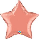 "Coral 20"" Star Foil Balloon Unpackaged"
