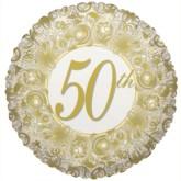 """50th Anniversary Foil Balloon 18"""""""