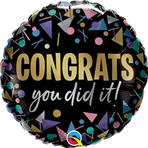 "Congrats You Did It 18"" Foil Balloon"