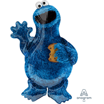 """Cookie Monster 35"""" SuperShape Foil Balloon"""