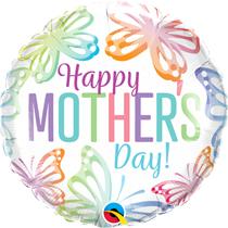 "Mother's Day Pastel Butterflies 18"" Foil Balloon"