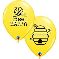 """Bee Happy 11"""" Latex Balloons 25pk"""