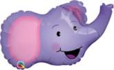"Elated Elephant Mini Shape Foil Balloon 14"""