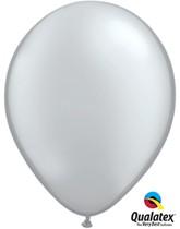 "Qualatex Metallic 11"" Silver Latex Balloons 6pk"