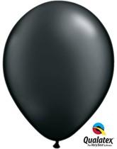 "Qualatex Pearl 11"" Pearl Onyx Black Latex Balloons 6pk"