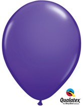 """Qualatex Fashion 11"""" Purple Violet Latex Balloons 6pk"""