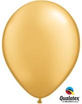 "Qualatex Metallic 11"" Gold Latex Balloons 6pk"