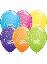 "Assorted Colour Retirement 11"" Latex Balloons 6pk"