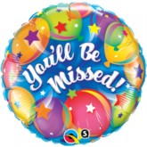 """18"""" You'll Be Missed Foil Balloon"""
