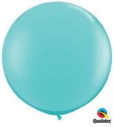 3ft Caribbean Blue Latex Balloons - 2pk