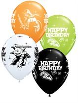 "Star Wars Happy Birthday 11"" Latex Balloons 25pk"
