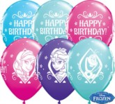 "Frozen Happy Birthday 11"" Latex Balloons 25pk"