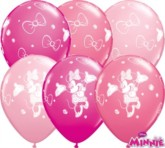 """Minnie Mouse Assorted Pink 11"""" Latex Balloons 25pk"""