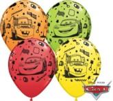 "Cars Assorted 11"" Latex Balloons 25pk"