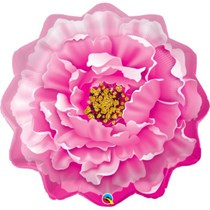 """Pink Peony 33"""" Large Foil Balloon"""
