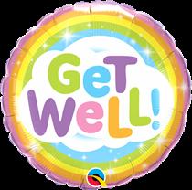 "Get Well Rainbow 18"" Foil Balloon"