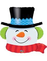 "Christmas Smiling Snowman 36"" Foil Balloon"