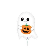 "Halloween Cute Lil' Ghost 14"" Mini Shape Foil Balloon"