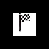 "Mini Checkered Flag 14"" Foil Balloon"