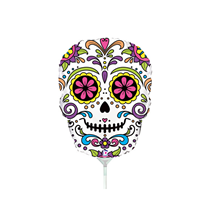"Halloween Sugar Skull 14"" Mini Shape Foil Balloon"
