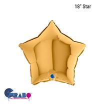 "Grabo Gold Star 18"" Foil Balloon"