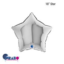 """Grabo Silver Star 18"""" Foil Balloon"""