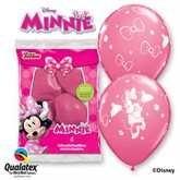 """Minnie Mouse 11"""" Latex Balloons 6pk"""