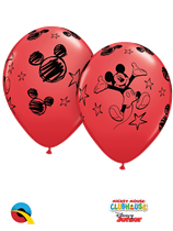 Mickey Mouse Latex Balloons 6 Pack