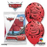"Disney Cars 11"" Latex Balloons 6pk"