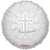 """Christening Cross 18"""" Foil Balloon"""