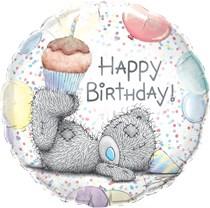 """Tatty Teddy Me to You Birthday Cupcake 18"""" Foil Balloon"""