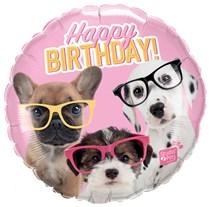 """Studio Pets Birthday Puppies 18"""" Foil Balloon"""