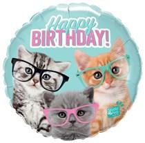 """Studio Pets Birthday Kittens 18"""" Foil Balloon"""