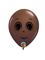 """Chocolate Brown Masculine Face 5"""" Latex Balloons 100pk"""